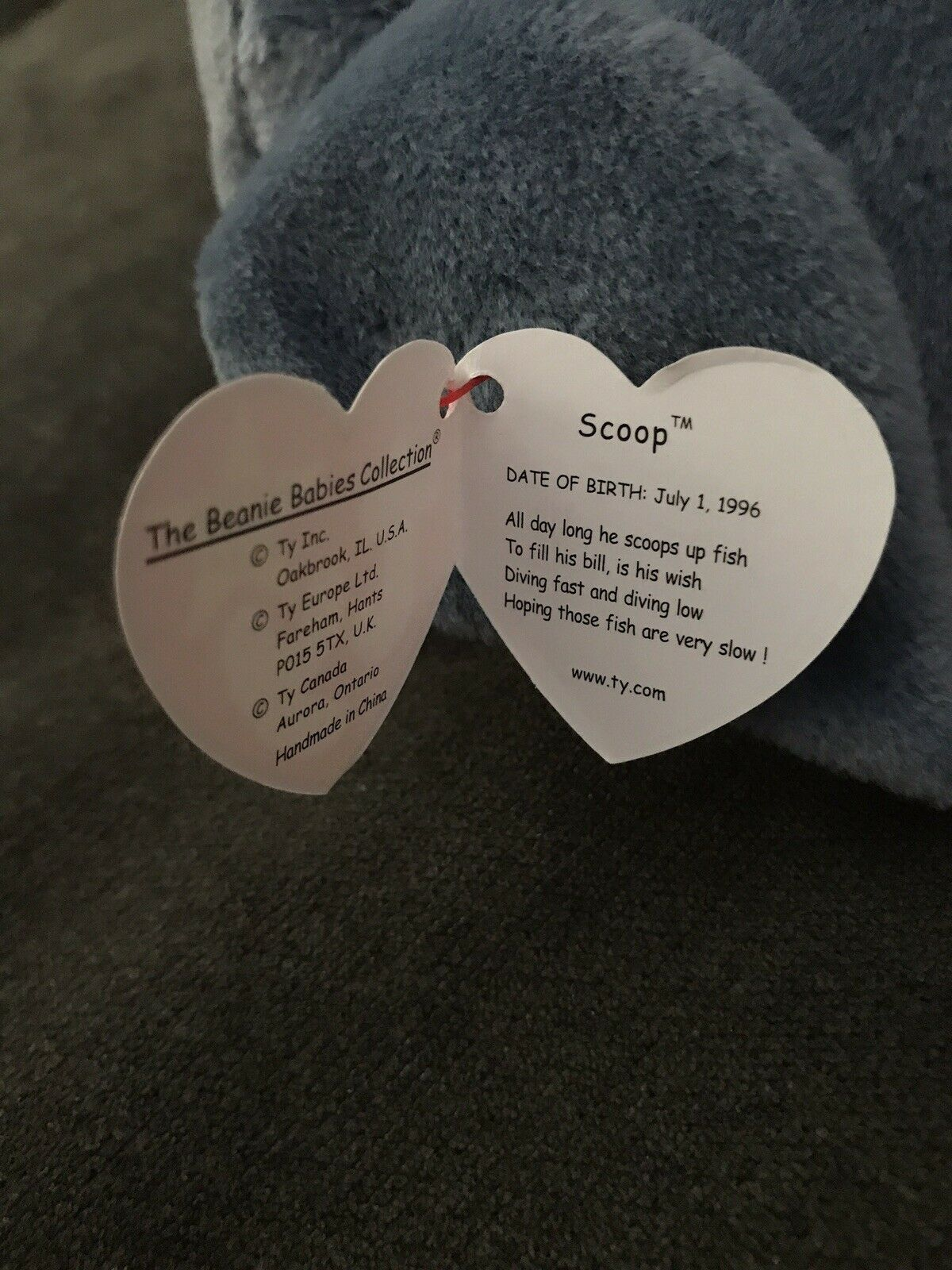 TY Beanie Babies    SCOOP  the Pelican. 1996 Collectible. RETIRED  f8c22a