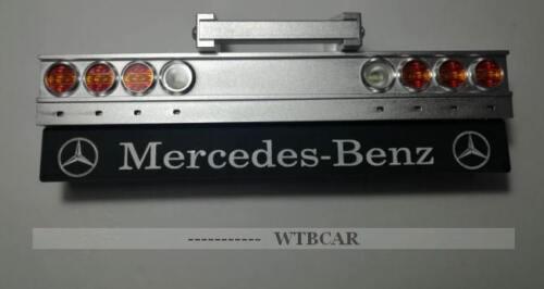 1//14 rear bumper with led set for 1//14 tamiya mercedes benz Actros Arocs lesu