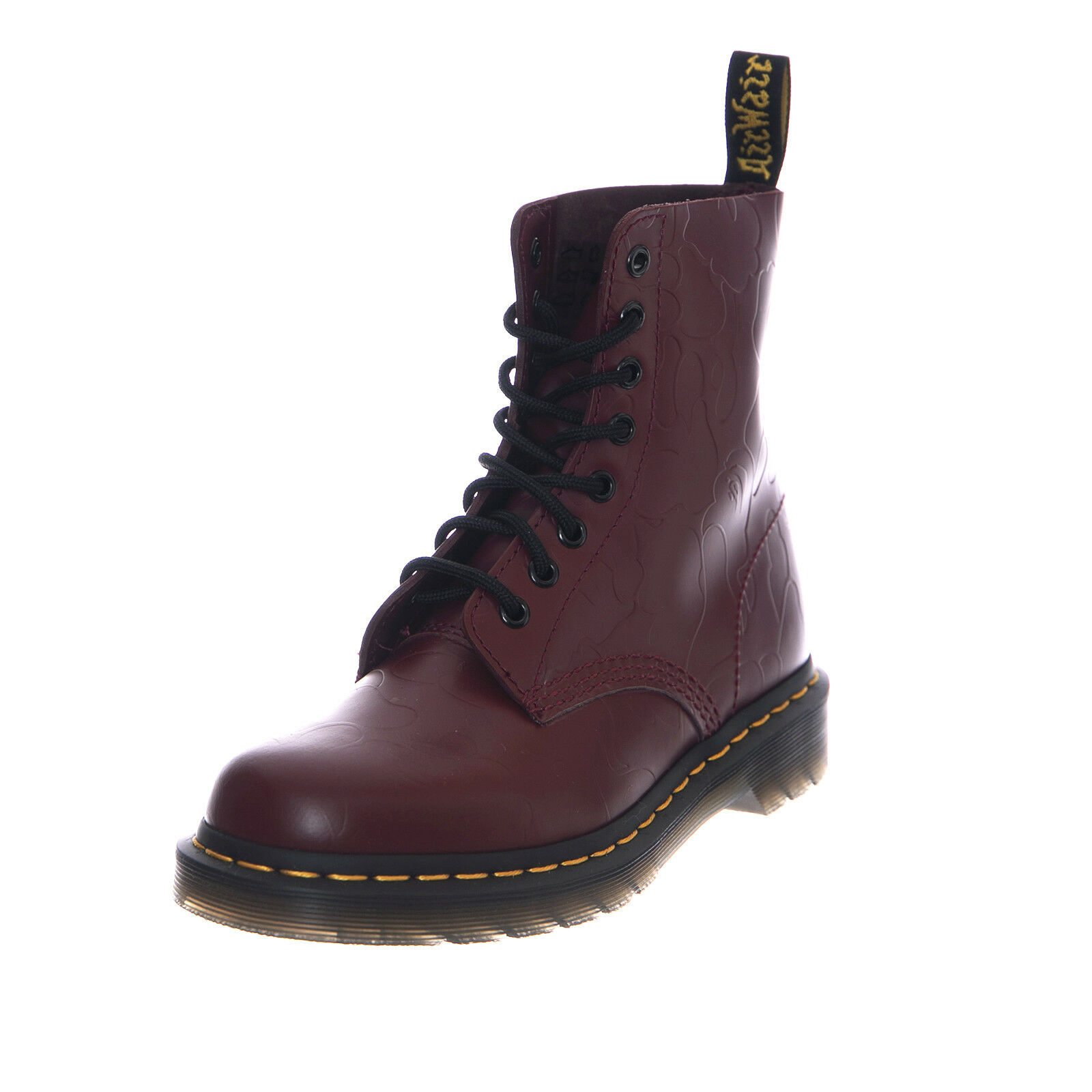 Dr.Martens Boots 1460 Bape Cherry Red Smooth Emboss Burgundy