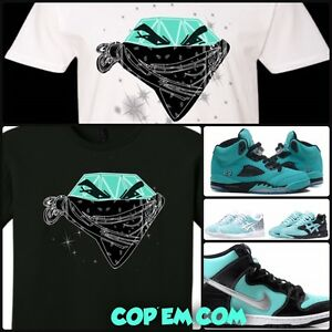ea0509c7e2bd T-SHIRT TO MATCH ANY TIFFANY DIAMOND MINT TURQUOISE NIKE JORDAN ...