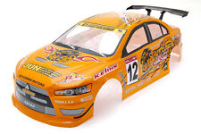 RCG Racing Mitsubishi Lancer Evo 1/10th RC Car Body Shell Orange 190mm S025O