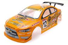 RCG Racing Mitsubishi Lancer Evo 1/10th RC Car Body Shell Orange 190mm S025O