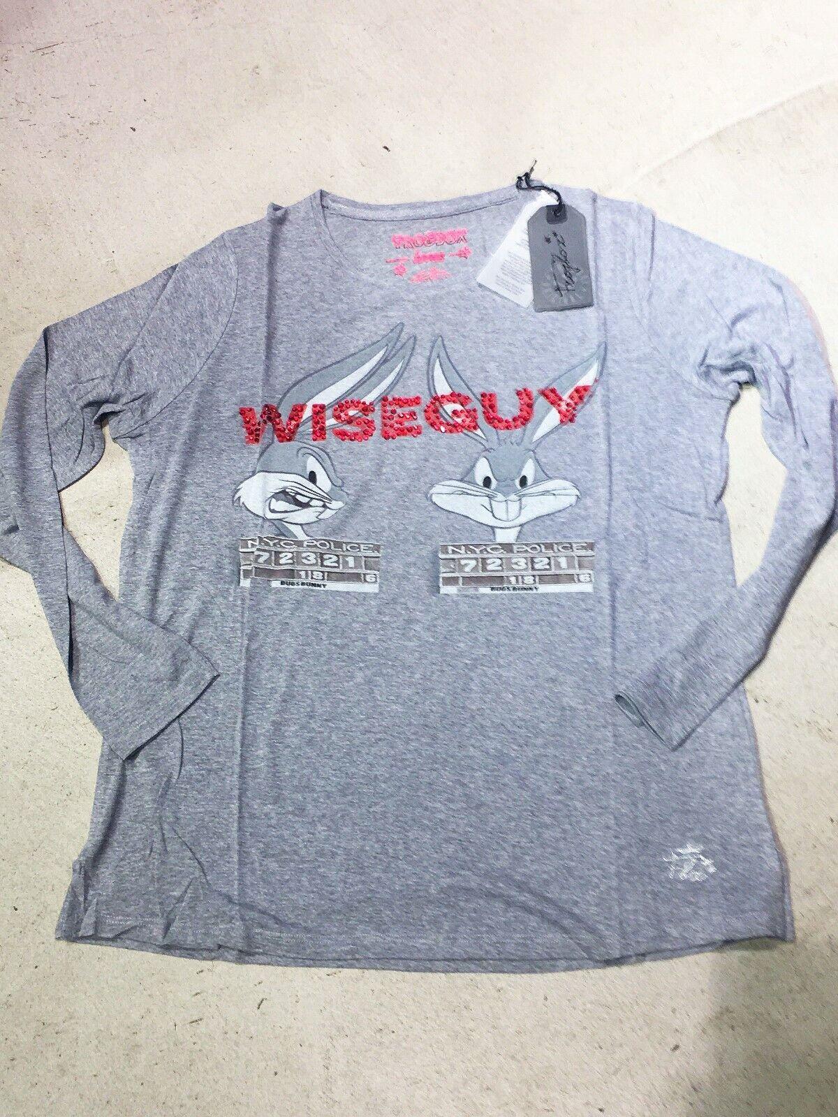 FROGBOX   PRINCESS  Shirt Bunny Wiseguy Strass  Grau Melange 40 42 44