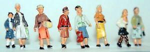 8-Walking-Women-F257-UNPAINTED-OO-Scale-Langley-Models-Kit-People-Figures-1-76