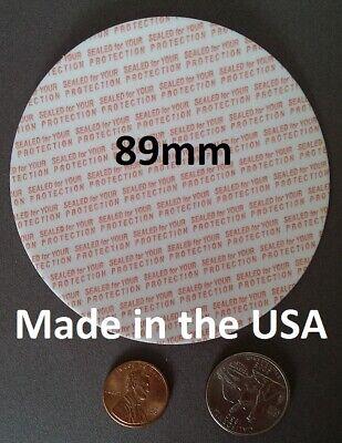 63 mm de seguridad Espuma sellos de manipulaciones hechos en EE UU 63mm Press /& Seal Cap los trazadores de líneas 25-1000