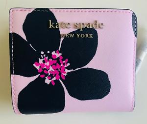 NWT Kate Spade Cameron Grand Flora Bifold Wallet Pink WLRU6137 (Retail $129)