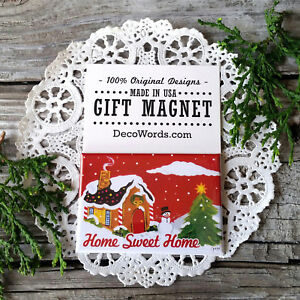 Christmas-Magnet-Home-Sweet-Home-New-USA-Gift-Party-Favor-Friends-Neighbors