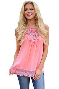 Damen Shirt T-Shirt Top Bluse Blusenshirt Krepp Flamingos Rüschen Party S 34 36