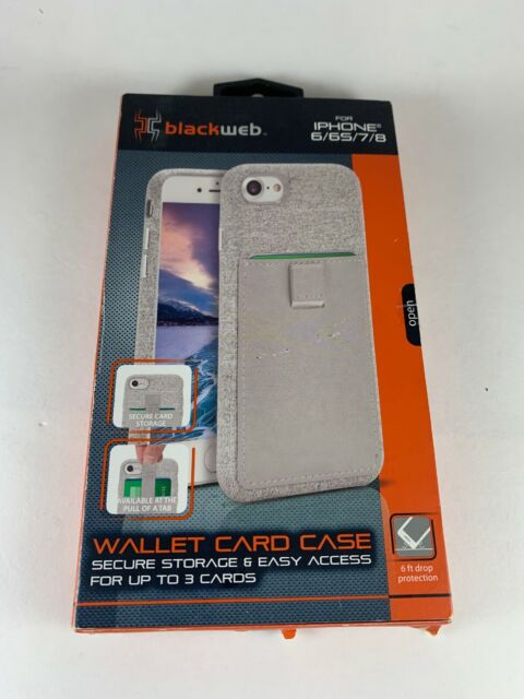 the latest 852ec 8d70c Blackweb Wallet Card Case for iPhone 6 / 7 / 8 Bwb17w1024 Gray