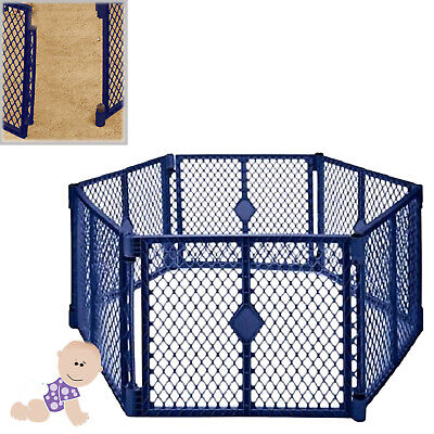 Baby Superyard Playard Fence Gate Portable Indoor Outdoor Play Area Foldable