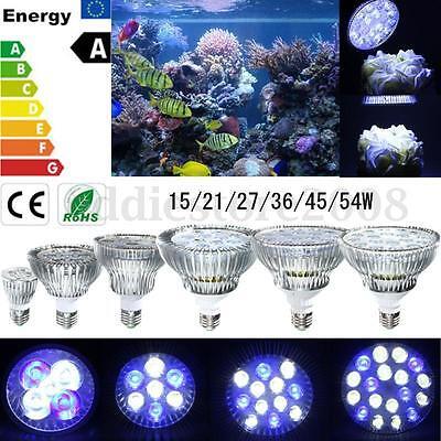 E27 15/21/27/36/45/54W LED Coral Reef Plant Grow Light Tank Aquarium PAR30/38