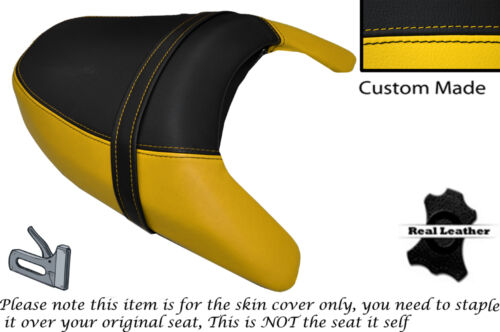 BLACK & YELLOW CUSTOM MADE FITS SUZUKI VZR 1800 R REAR LEATHER SEAT COVER
