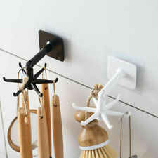 6-claw Wall Mounted Hanger 360° rotating storage hook Kitchen Gadgets Bath Hook