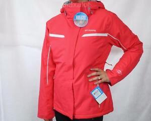 New Columbia Powder Dash Omni Heat Jacket Red Womens S M L