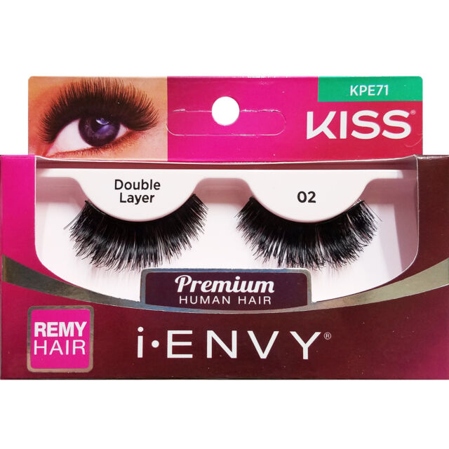 5f85dee84ce I Envy by Kiss Double Layered 100 Human Remy Hair Eyelashes Lashes ...