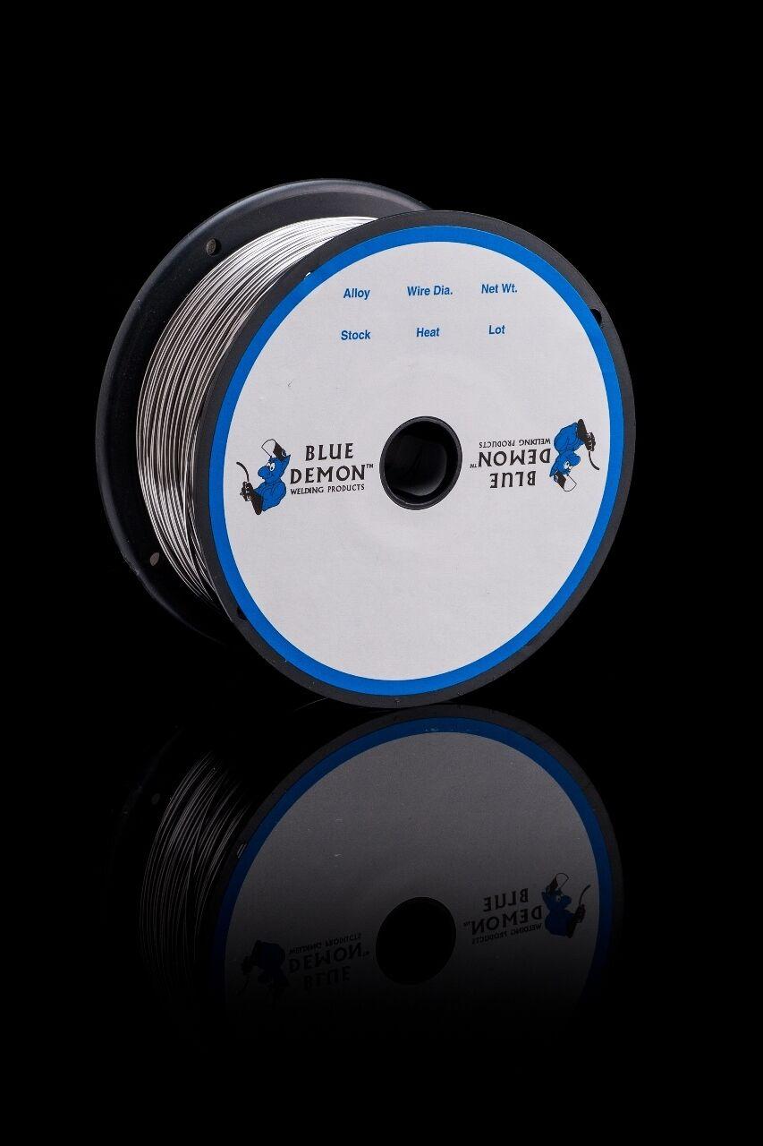 308LT1//4 .045 MIG 11 lb Spool Stainless Steel Flux Core Welding Wire Blue Demon