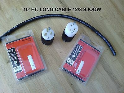 20 Amp Extension Cord Diy Kit 10 Ft 12 3 Sjoow Cable T