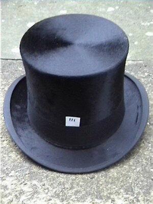 Dunn & Co London Antico Nero Silk Top Hat Sz 7.-mostra Il Titolo Originale Grande Assortimento
