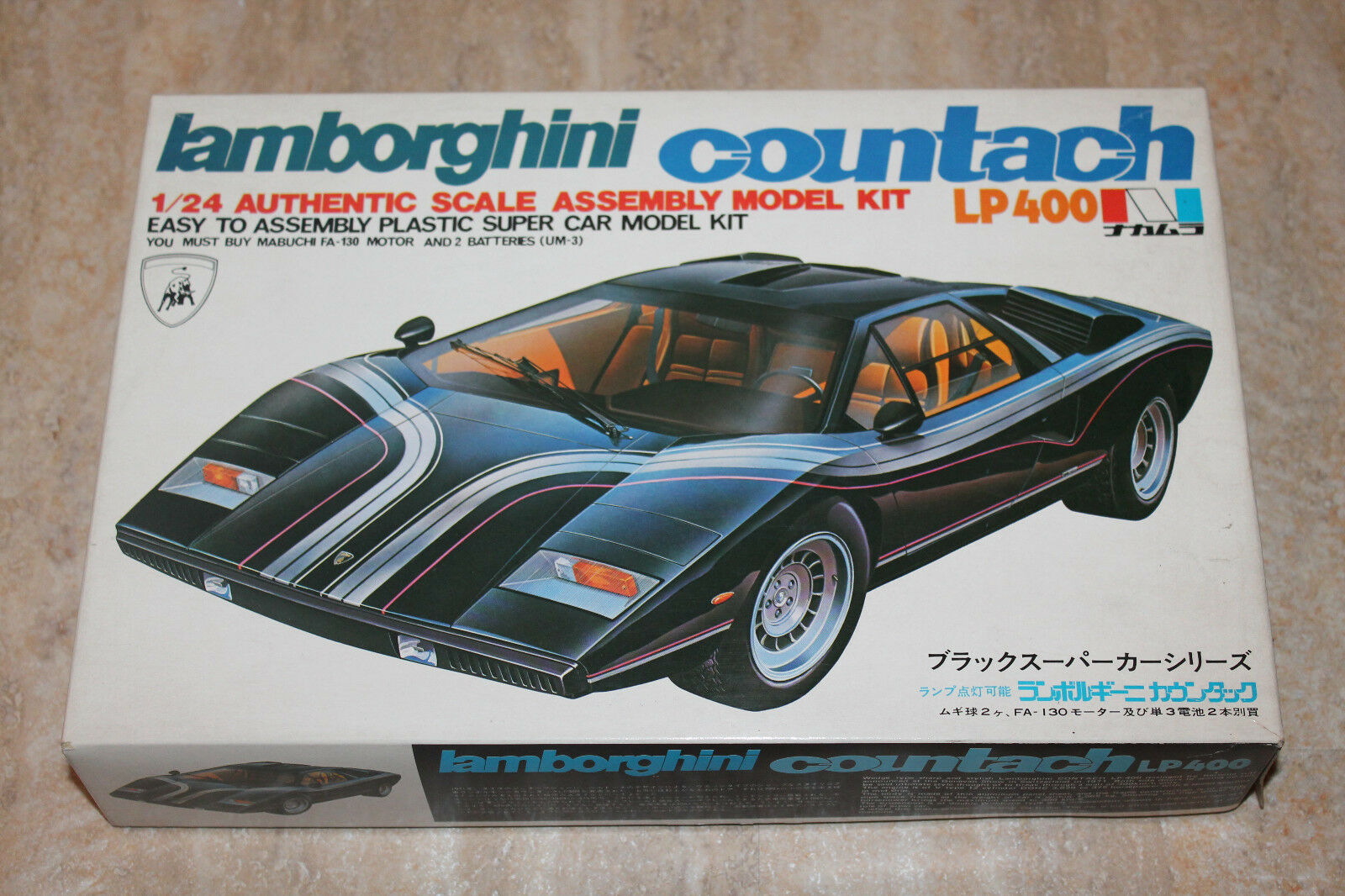 Nakamura Sangyo 5301 Lamborghini Countach LP400 1 24 NEU OVP RAR  | Elegante Und Stabile Verpackung