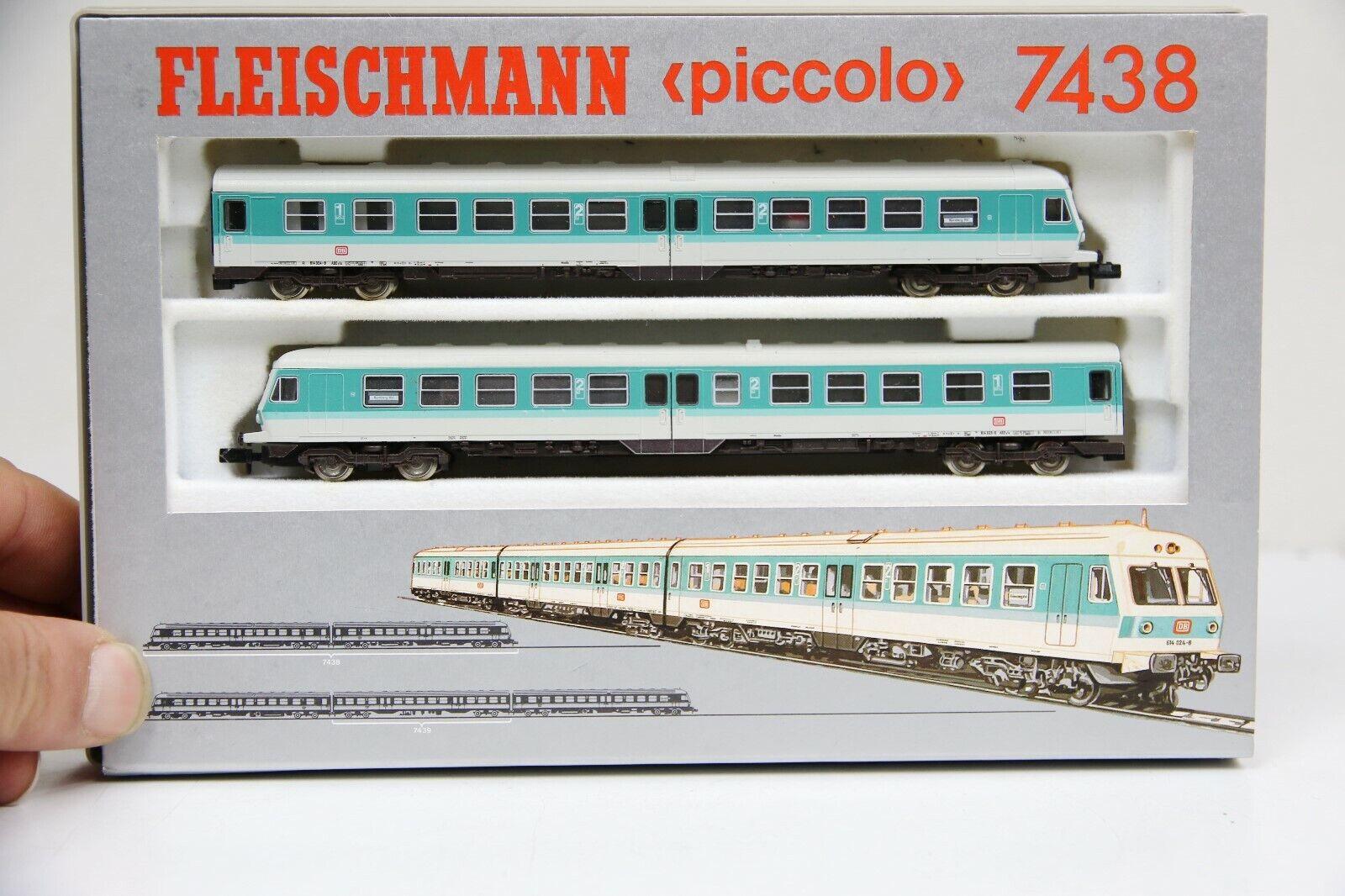 Fleischmann N 7438 2-teiliger Dieseltriebzug BR 614 der DB in OVP (RB9986)