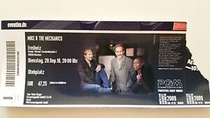 MIKE AND THE MECHANICS MIKE RUTHERFORD GENESIS USED COLLECTOR TICKET MUNCHEN 16 - Italia - MIKE AND THE MECHANICS MIKE RUTHERFORD GENESIS USED COLLECTOR TICKET MUNCHEN 16 - Italia