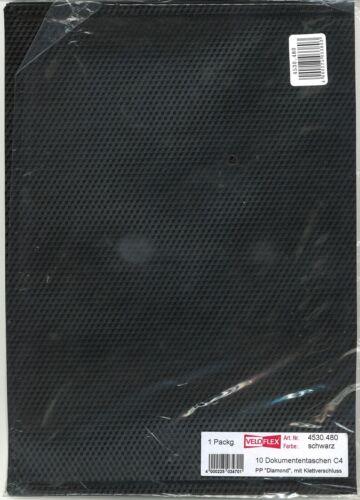 """Veloflex Dokumententasche 1 Stck C4 schwarz PP """"Diamond"""" mit Klettverschluss"""