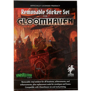 Officially Licensed Cephalofair Games Gloomhaven Removable Sticker Set Ages 12+