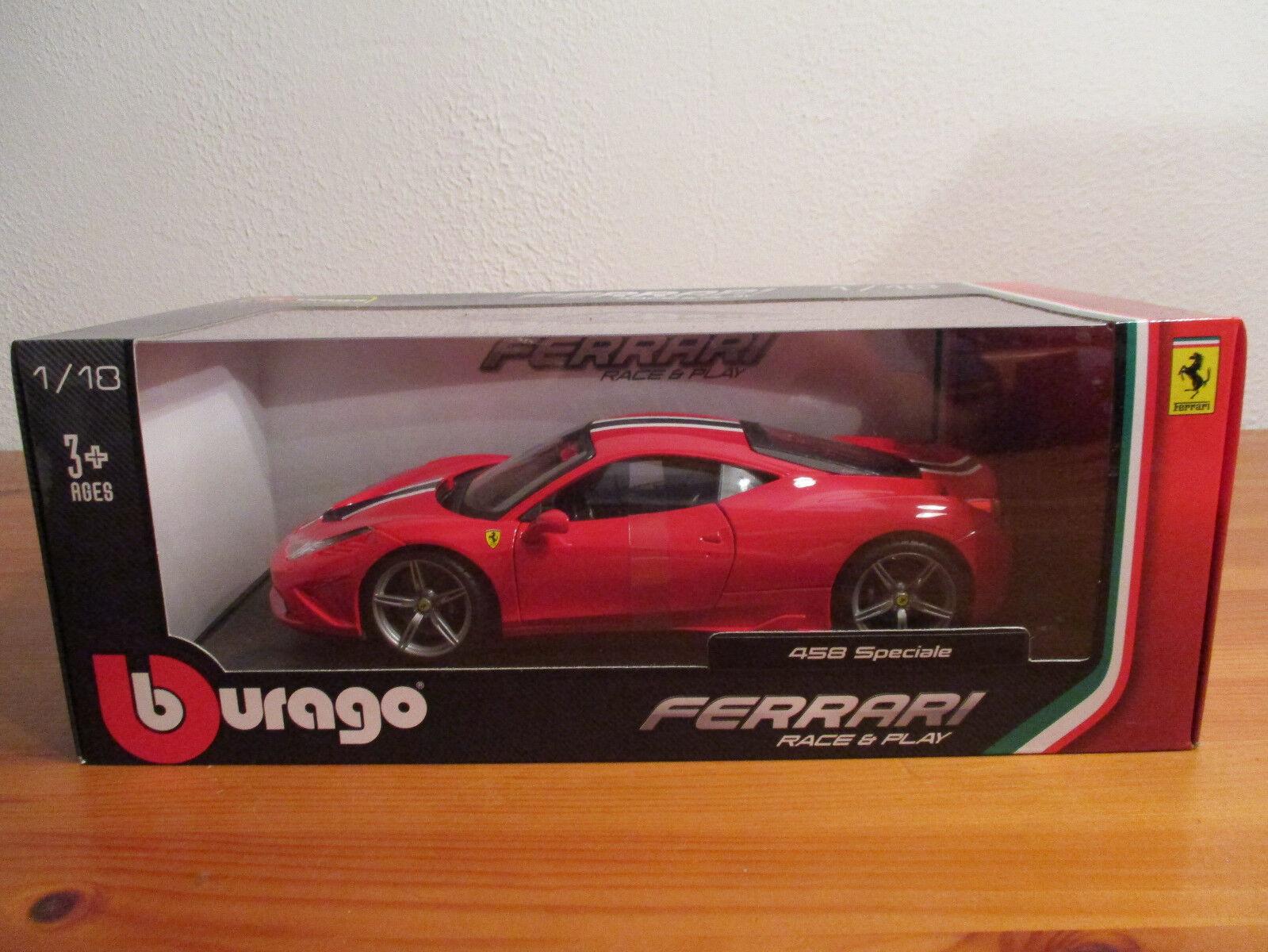 (Go) 1 18 Burago Ferrari 458 Spéciale NIP