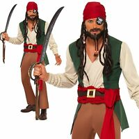 Mens Drunken Pirate Adult Dressing Up Costume Outfit Male Smiffys Pirates Set