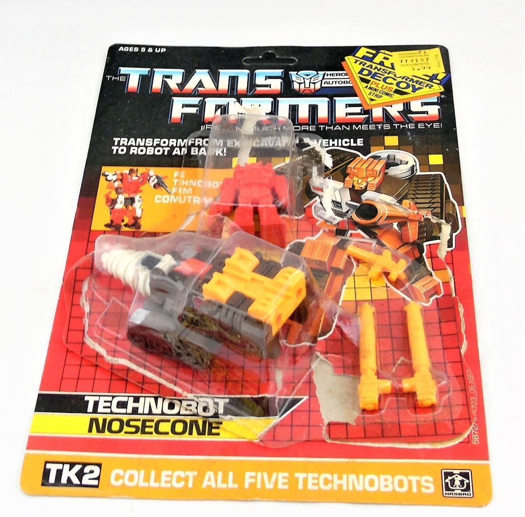 Transformers Original G1 1987 Technobot Nosecone Complete Card Bubble