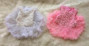 NEW-Baby-Girl-Infant-Cotton-sleeveless-3D-rosettes-tutu-Bodysuit-0-3-6-12-months