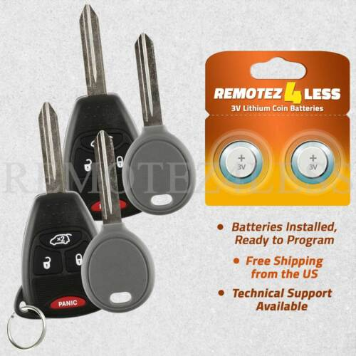 2 For 2006 2007 Dodge Charger 4b Keyless Entry Remote Car Key Set