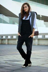 Zara-Black-Jeans-Denim-Dungarees