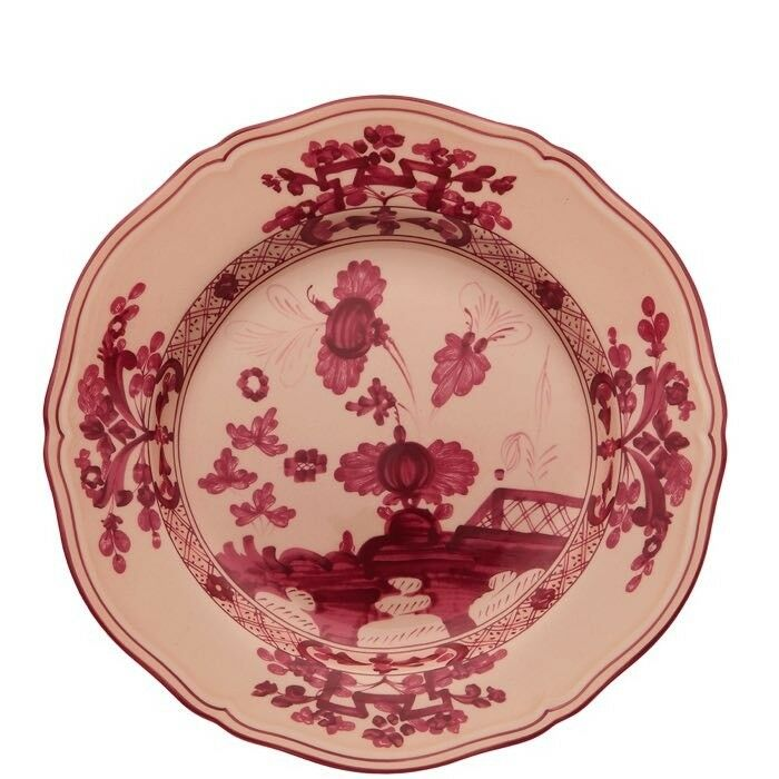 Oriente Italiano Vermiglio, Piatto Dessert 21cm, Porcellana, Richard Ginori