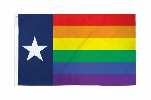 Texas Rainbow Flag 3x5 LGBTQIA Texan Pride Gay Texas Rainbow Flag State of Texas