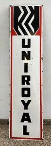 NICE-1940-039-S-UNIROYAL-TIRES-ENAMEL-PORCELAIN-SIGN