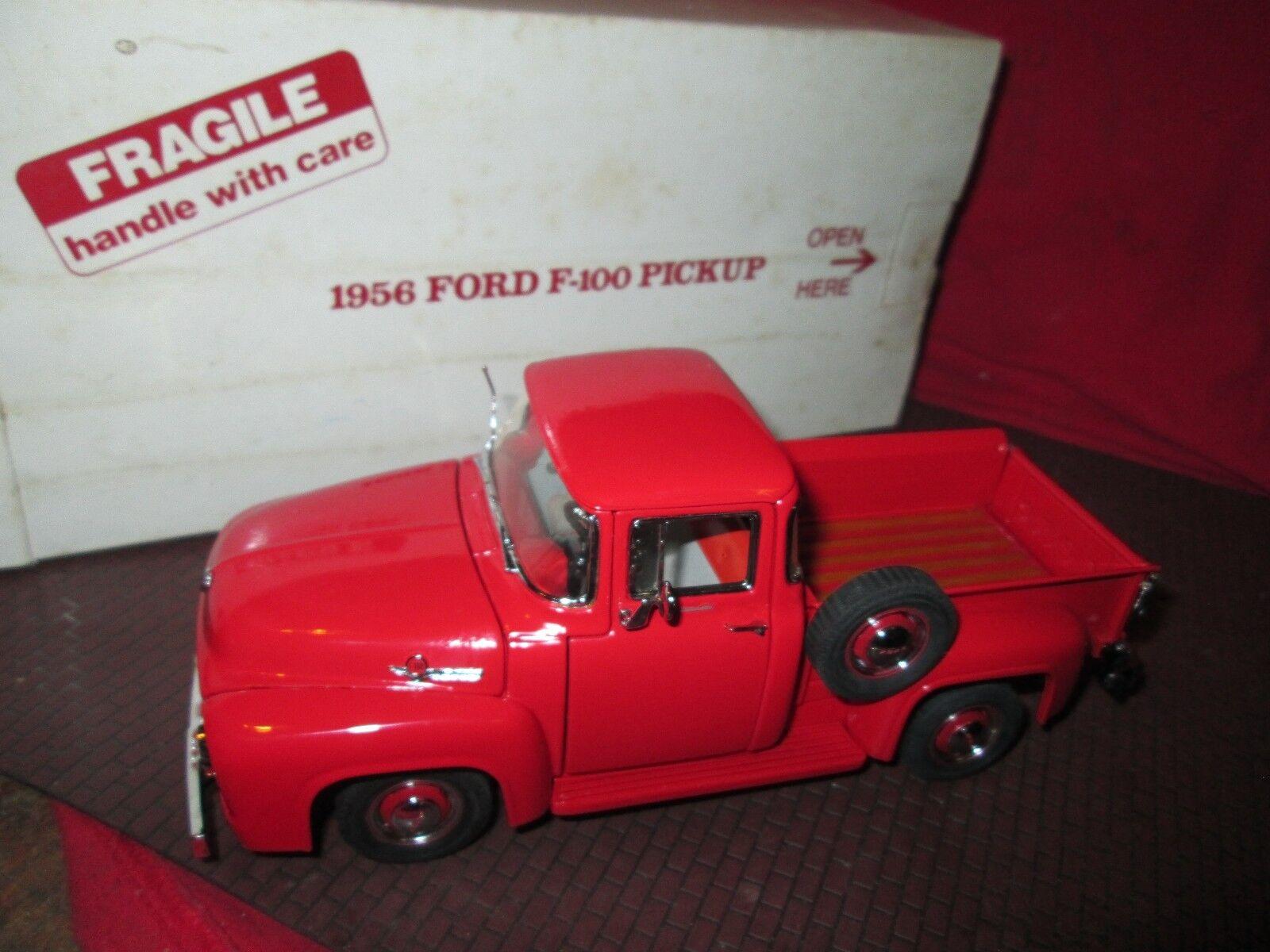 Danbury Menta 1956 Ford F100 Camioncino Scoperto PickUp Rosso