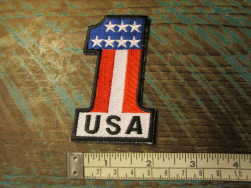 NEW USA NUMBER ONE AMERICAN FLAG RACING PATCH CHEVY TRUCK MOTORCYCLE AMERICA