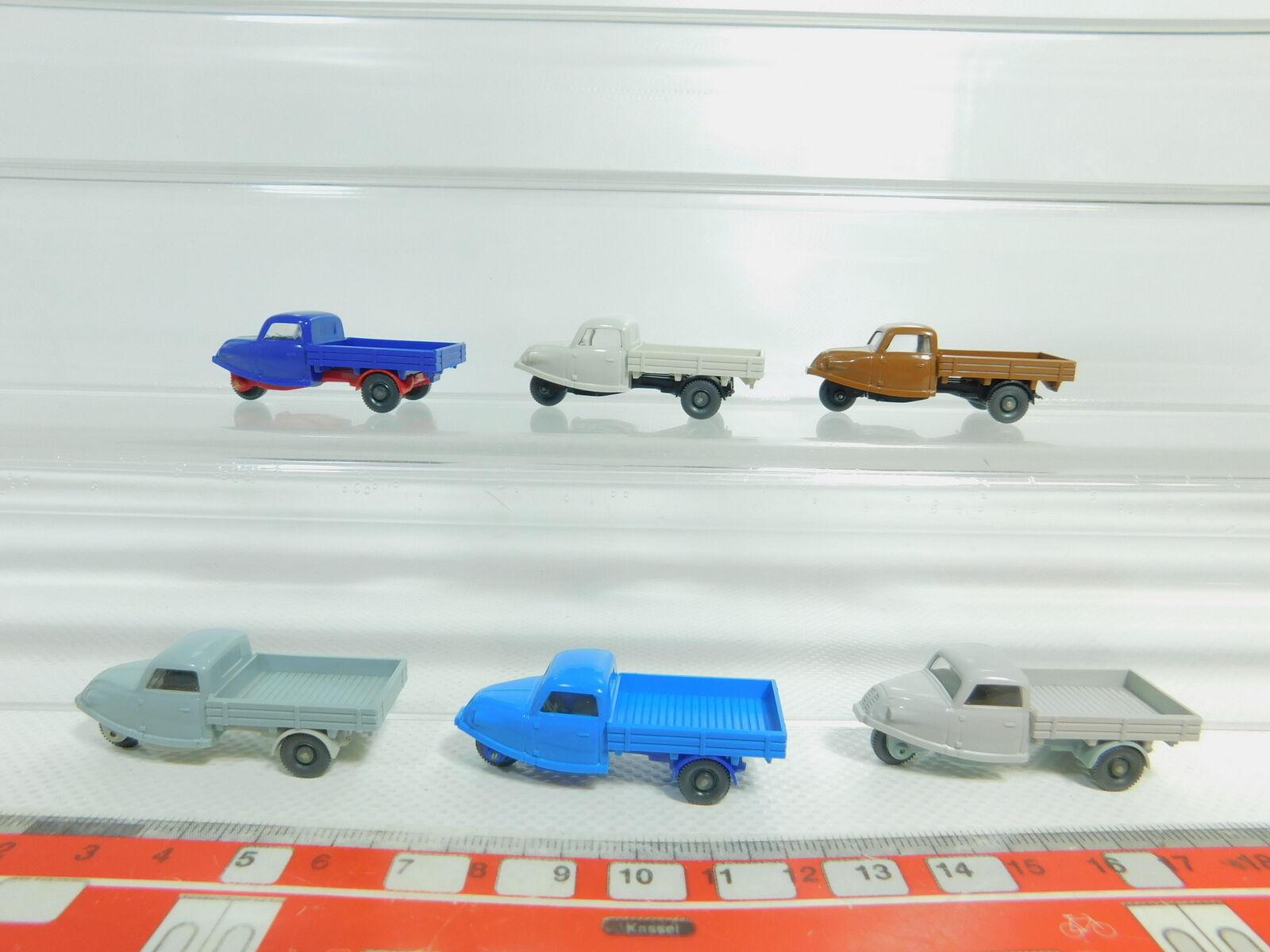 BO603-0, BO603-0, BO603-0, 5  6x Wiking H0   1 87 Modelo Goli Triciclo  250+330 Etc. ,Nuevo 0989d6