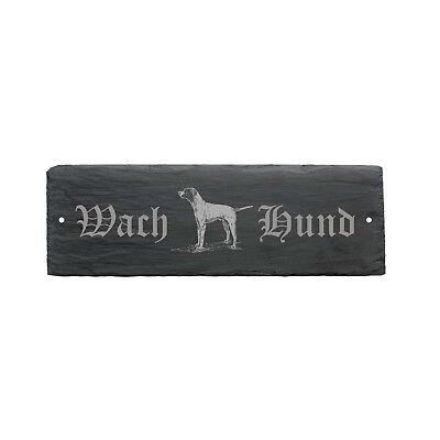 Kenntnisreich Wetterfestes Schild « Wachhund Pointer » Hund 22 X 8 Cm