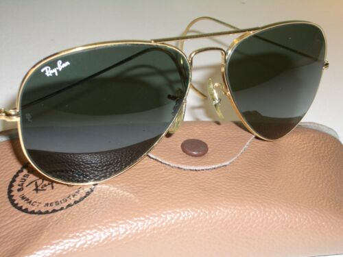 1980's 62[]14mm VINTAGE B&L RAY-BAN WRAPAROUNDs G1