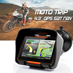 4-3-034-Waterproof-GPS-8GB-Bluetooth-Motorcycle-Car-Sat-Nav-Navigation-System-Maps