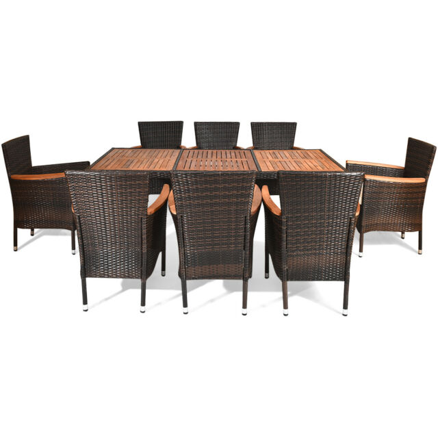 Round Outdoor Dining Sets For 8