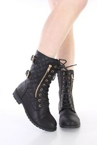 Innovative Womens Military Style Army Combat Lace Up Ankle Worker Boots Size 3 4