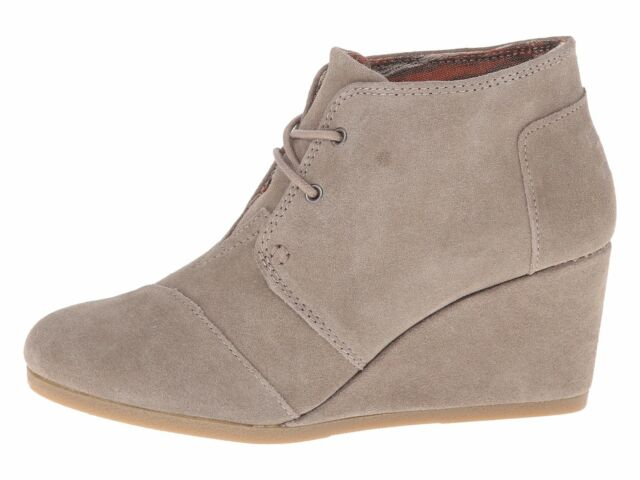 a92df491e64 Toms Women Desert Wedge Taupe Suede 10006257 Bootie 9.5 for sale ...