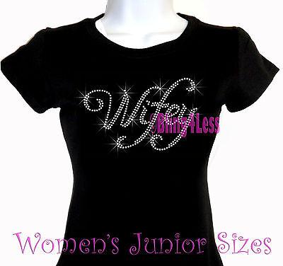 Wifey -Cursive Letter- Iron on Rhinestone T-Shirt - Bling Bride Groom Bridal Top