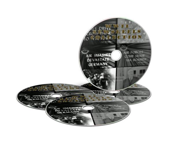 Seconda GUERRA MONDIALE CINEGIORNALI filmati 1937-1946, 6 ore di filmati TOTALE COMPLETA 4 DVD SET-J19