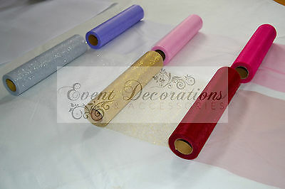 "25YARD ROLL OF 12"" WIDE ELEGANZA TULLE IN 13 COLOURS, WEDDING FAVOURS DECORATION"