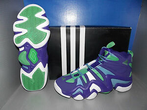Image is loading MENS-ADIDAS-CRAZY-8-in-colors-PURPLE-WHITE-