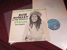 Bob Marley & The Wailers  IS THIS LOVE / KINKY REGGAE  12'' Maxi Island sehr gut